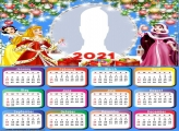 Disney Princesses Merry Christmas Calendar 2021