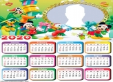 Christmas Frinds Mickey Mouse Calendar 2020