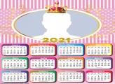 Royal Girl Baby Shower Calendar 2021