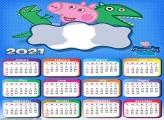Calendar 2021 George Peppa Pig