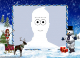 Snowman and Santas Reindeer Make a Photo Free