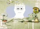 Transparent Collage Teddybear Frame Online