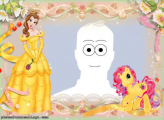 Belle and My Little Pony Picture Collage Maker