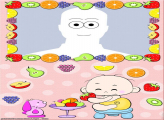 Baby Eating Fruits Make a Photo Collage