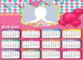 Pink Circus Calendar 2020 Frame Collage