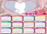 Romantic Heart Calendar 2019