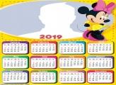 Minnie Yellow Dress Calendar 2019