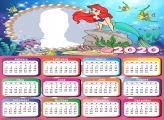 Ariel Drawing Calendar 2020 Frame Picture