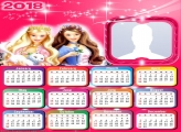 Calendar 2018 Barbie and Cat