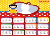 Calendar 2018 Snow White Cute