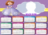 Sofia the First Calendar 2019