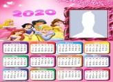 Calendário 2020 Princesas Disney