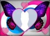 Purple Butterfly Heart Collage