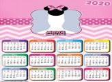 Minnie Mouse Pink Theme Calendar 2020