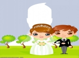 Animated Bride and Groom