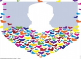 Colorful Hearts Photo Collage