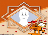 Garfield and Hearts Make a Photo Free