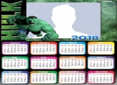 Calendar 2018 Hulk