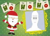 Santa Claus Greeting Picture Frame Free