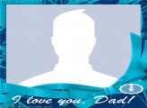 Blue I Love Dad Photo Collage