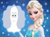 Elsa Blue Background Picture Frame Digital