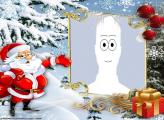 Santa Claus in Snow Picture Frame Digital