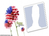 Flowers Independence Day USA Montage