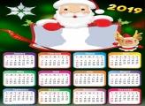 Cute Santa Claus Calendar 2019