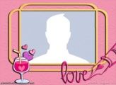 Valentines Day Wine Collage