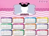 Theme Minnie Calendar 2019