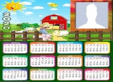 Little Farm Calendar 2020 Frame Picture