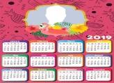 Pink Flamingo Calendar 2019