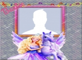 Barbie and Wing Horse Photo Collage