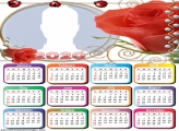 Red Flower Calendar 2020